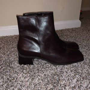 Gianni Bini Brown Leather Ankle Boots